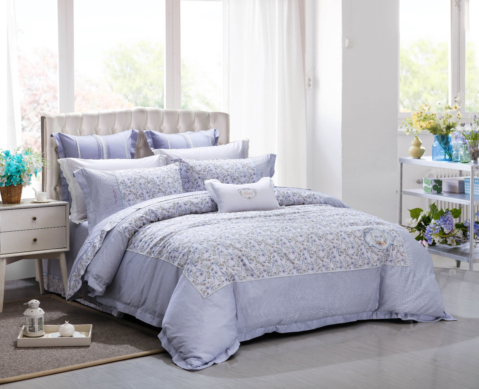 longstaple pattern design Cotton Bedding Sets Daphne