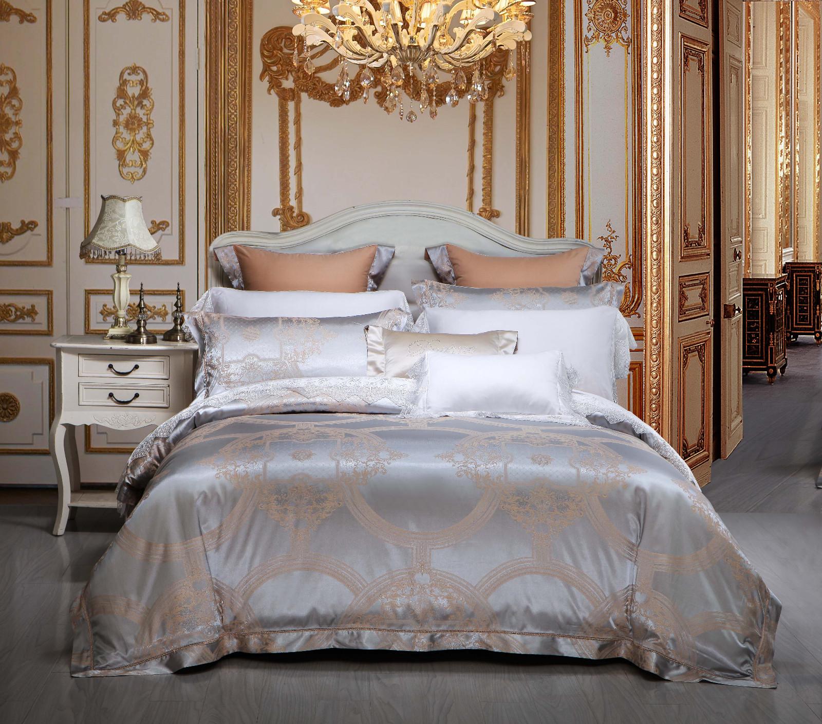 Daphne jacquard duvet cover king sheet bed attractive bedroom
