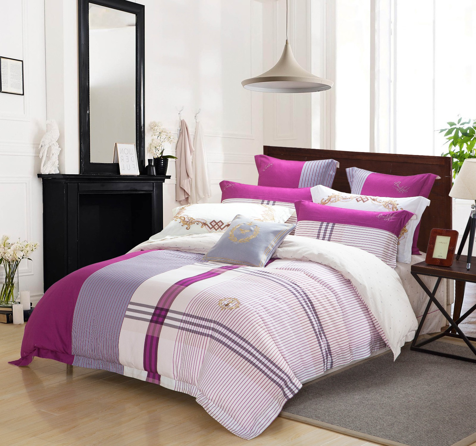 pattern adorable comfortable joint Daphne 100 cotton bedding sets