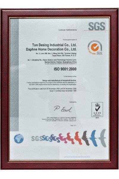 IS09001 : 2000 Certificat
