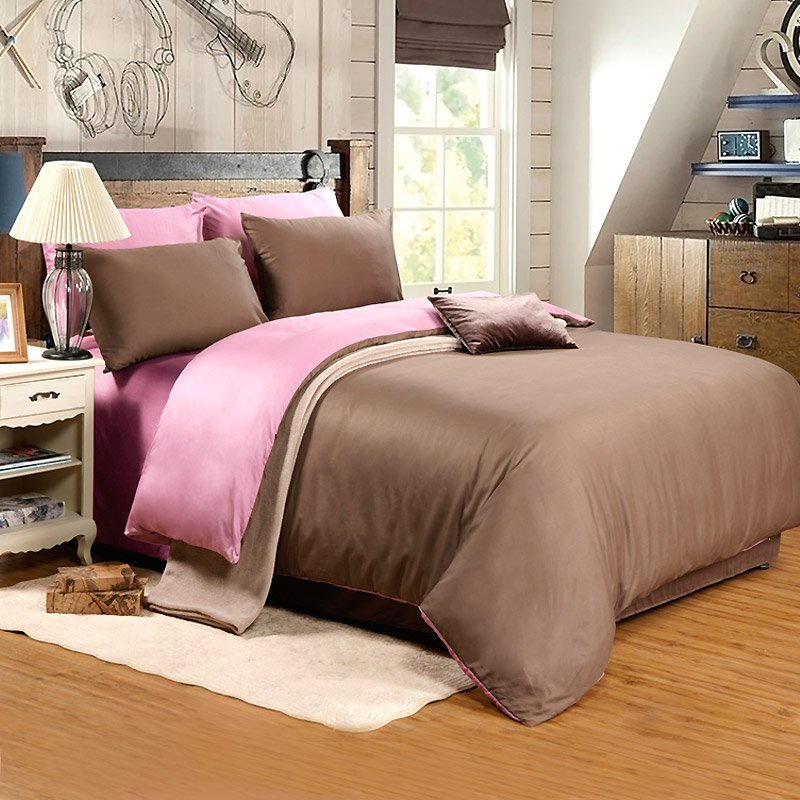Daphne 300 Thread Count Egyptian Bed Sheet Set DEA_4013 Solid Color Bedding image8
