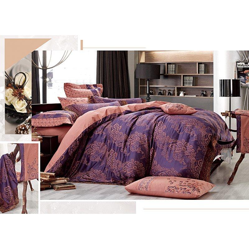 50% Modal 50% Polyester Jacquard Comforter Set YC-M-12