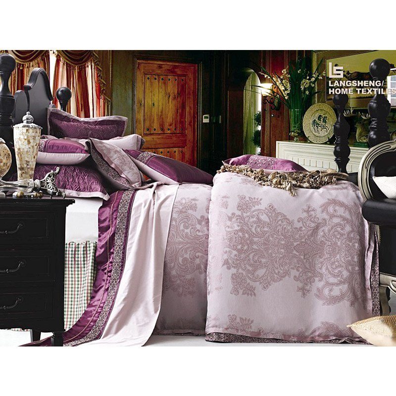 Luxury Polyester And Cotton Mixed Jacquard Bed Linen LS1635
