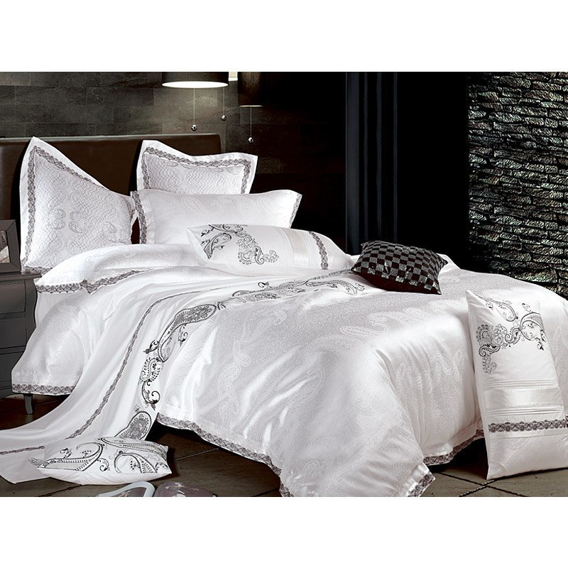 Luxury Polyester And Cotton Jacquard Bed Sheet Set YC-Z-40