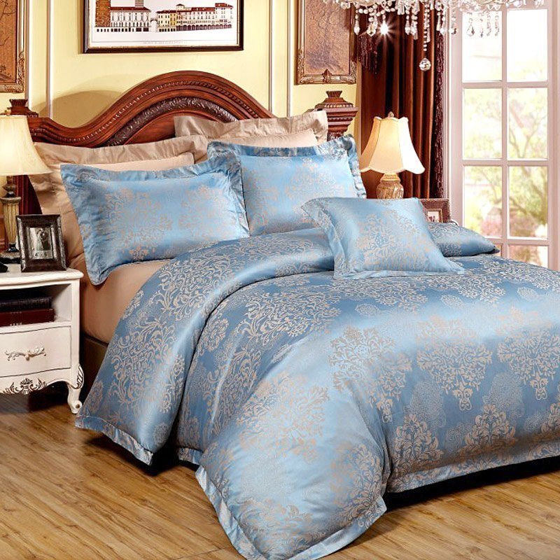 35% Bamboo, 15% Cotton, 50% Polyester Jacquard Bedding Set YC-Z-68
