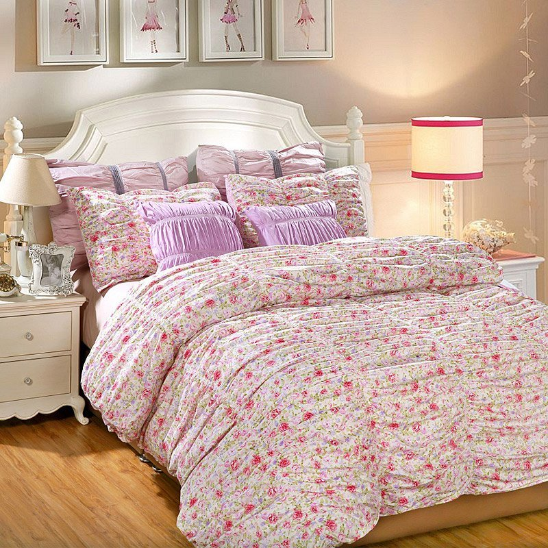100% Cotton Print Seersucker Bedding Set 121324