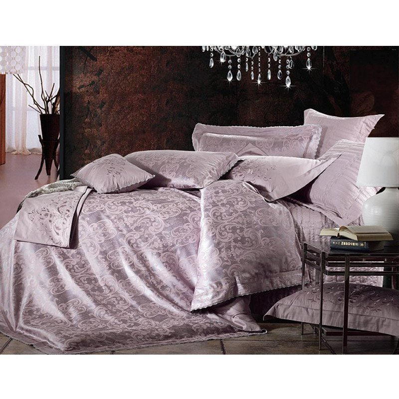 Poliestere Luxury E Modal jacquard Bed Sheet Set HW-1308