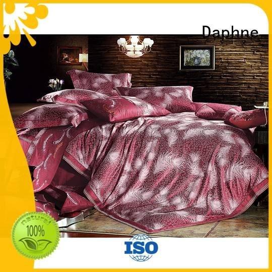 polyester lustrous bamboo silk Daphne Jacquard Bedding Set