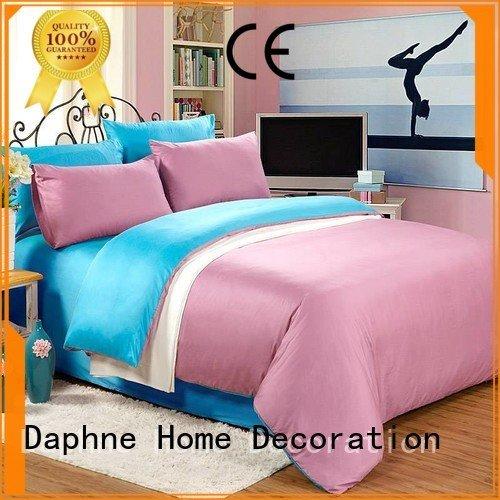 Daphne duvet thread Solid Color Bedding damask set