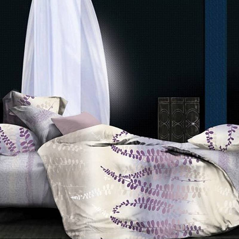 100% Bamboo Cotton Print Natural Bed Linen HMZY061