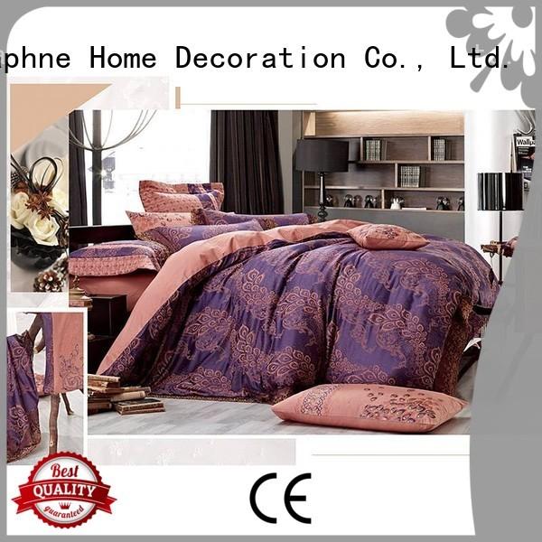 bedding bamboo sets Daphne Brand jacquard duvet cover king factory