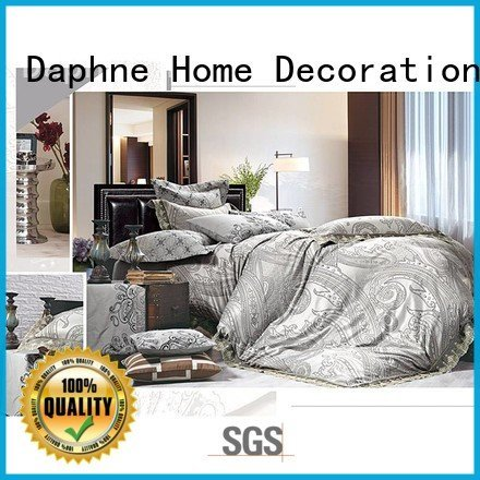 Quality jacquard duvet cover king Daphne Brand elegant Jacquard Bedding Set