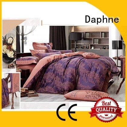 Daphne Brand bed rayon desings Jacquard Bedding Set lustrous
