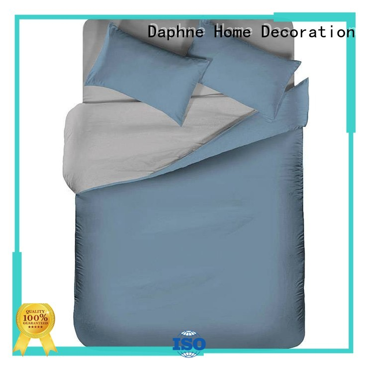 linen bedding sets colorful thread home Solid Color Bedding manufacture