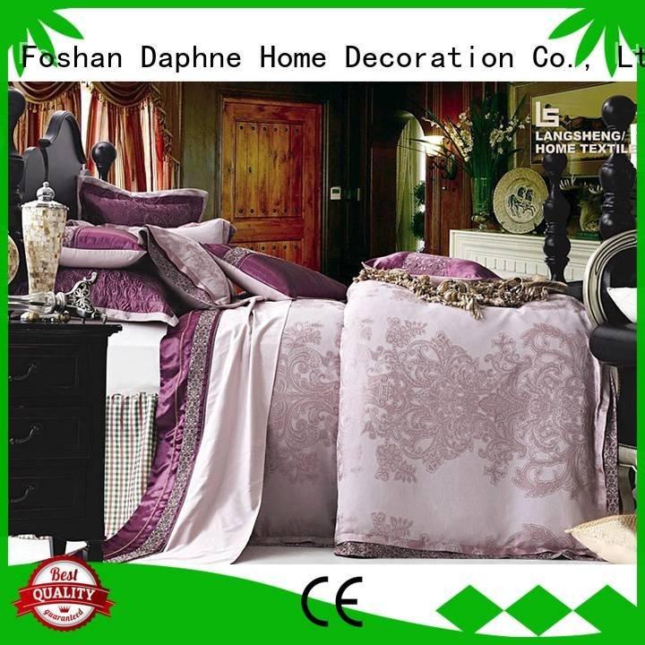 sheet beds OEM Jacquard Bedding Set Daphne
