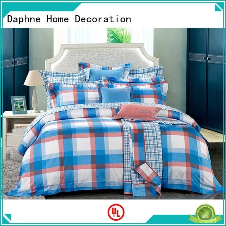 Daphne pattern bedroom printed 100 cotton bedding sets embroidery