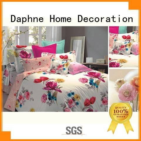 Quality jacquard duvet cover king Daphne Brand rayon Jacquard Bedding Set