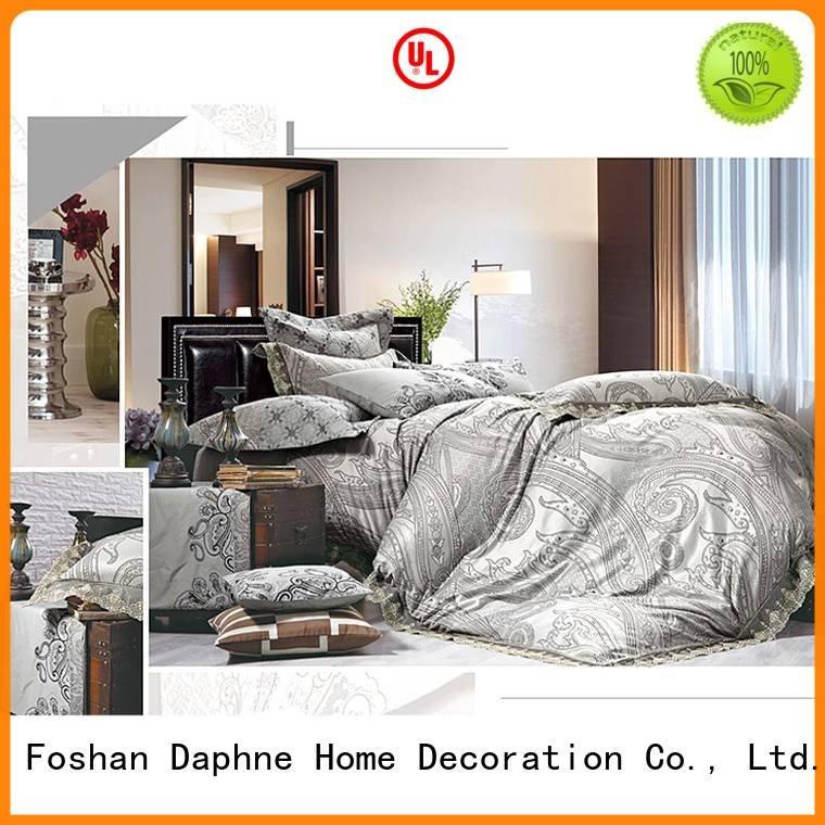 Hot jacquard duvet cover king print linen sets Daphne Brand
