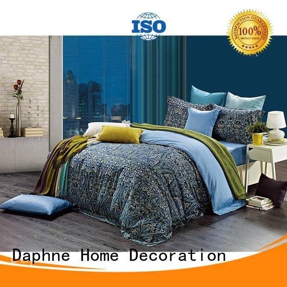 brightly digital embroidery 100 cotton bedding sets Daphne