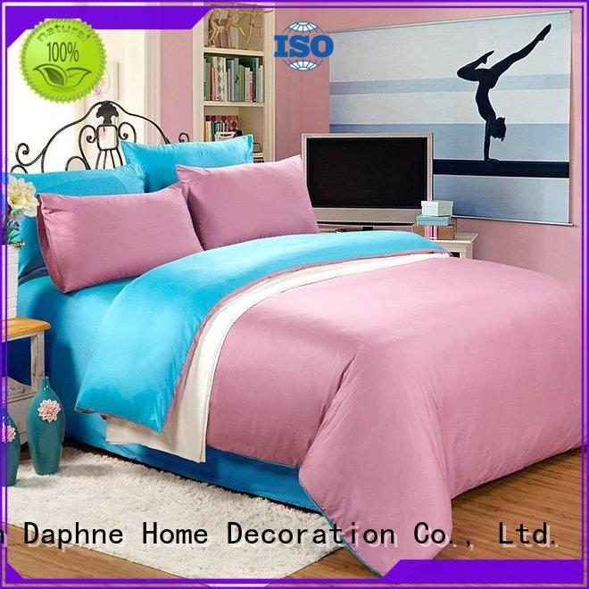 linen bedding sets turquoise pure OEM Solid Color Bedding Daphne