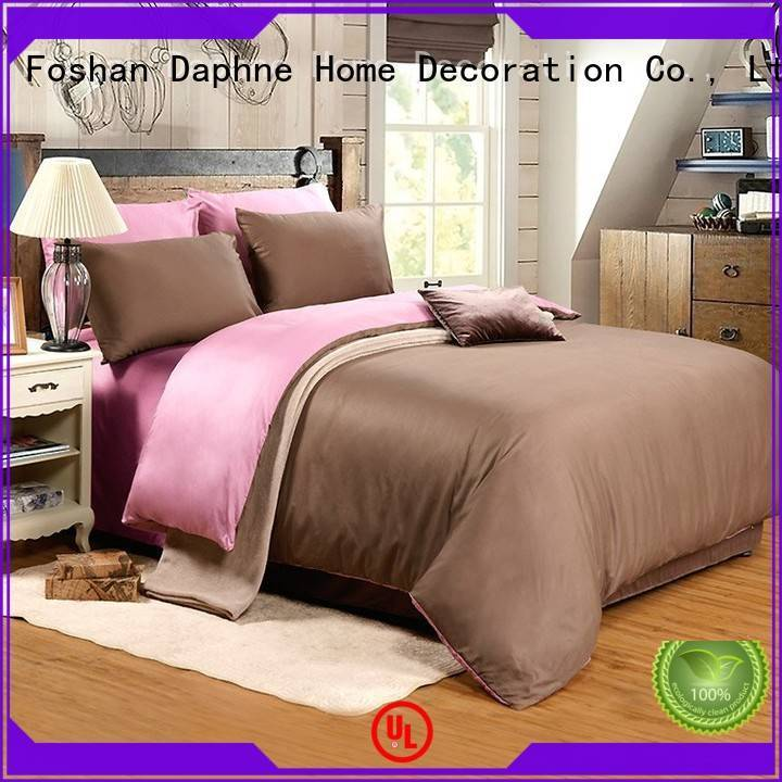 Quality Daphne Brand duvet percale Solid Color Bedding
