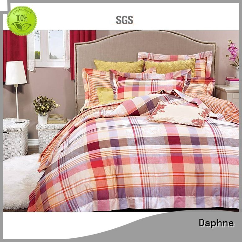 duvet plaid colored Daphne Brand 100 cotton bedding sets factory