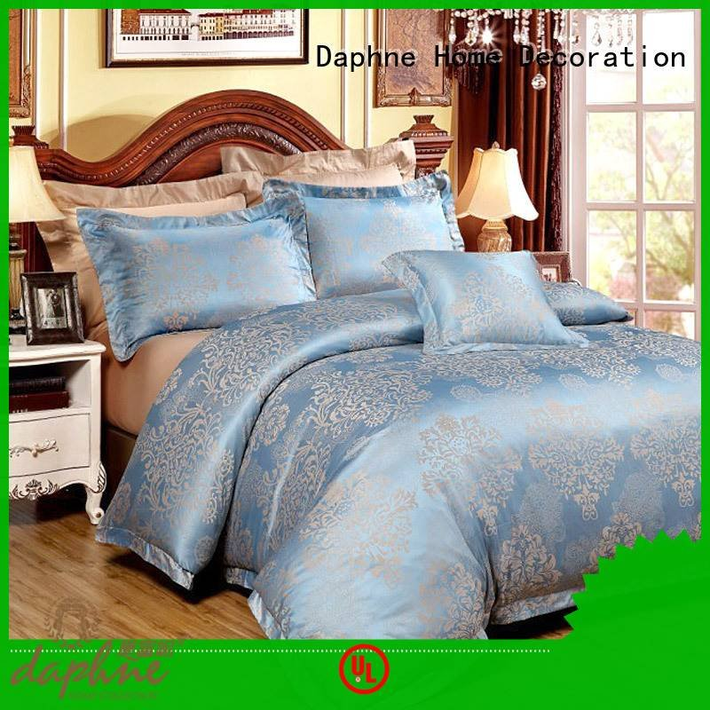 Daphne sheet Jacquard Bedding Set vividly print