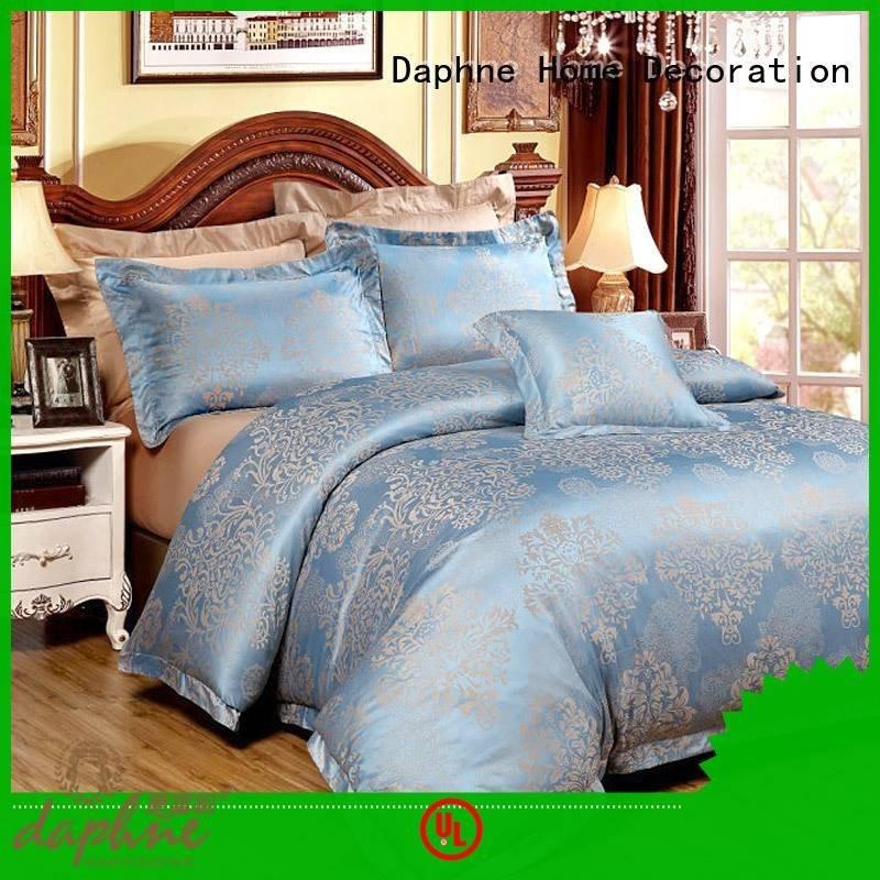 Daphne sheet Jacquard Bedding Set vividly print