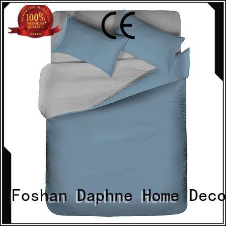 simple turquoise percale home Daphne linen bedding sets
