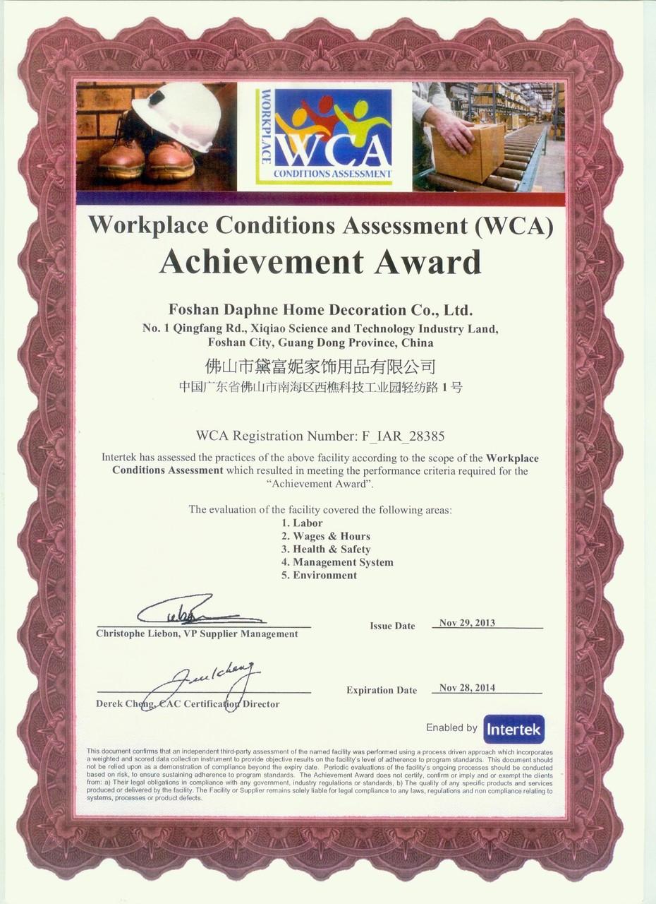 WCA certificat