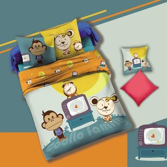 Lovely monkey Kid's duvet cover set #130552