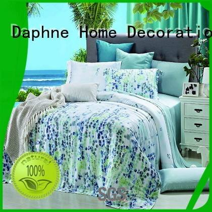 Custom organic comforter ferns rose flower Daphne