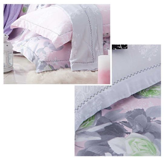 Sweet duvet cover set in 100% Bamboo #ZT-1107