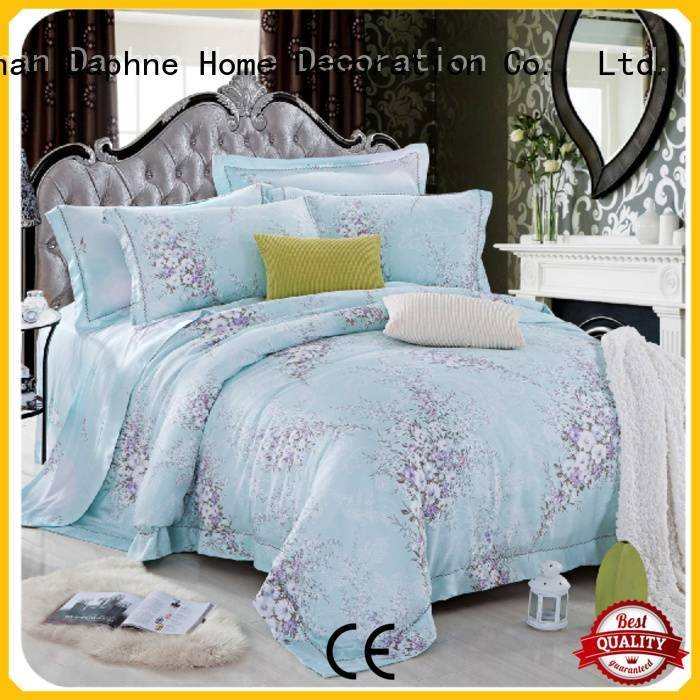 linen bed cover print Daphne Bamboo Bedding Sets