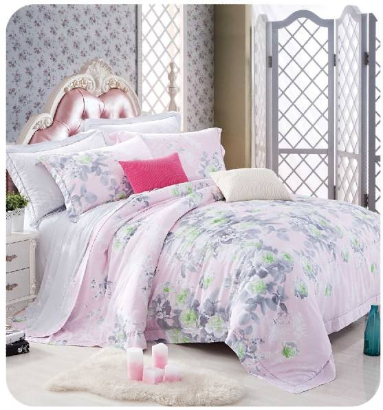 Daphne Sweet duvet cover set in 100% Bamboo #ZT-1107 Other Material Printed image81
