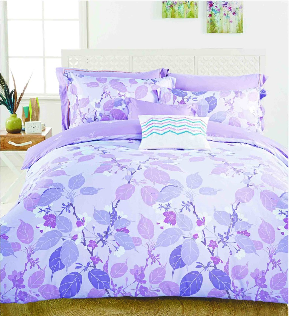 Vividly Printed Cotton Bedding Set   #160509