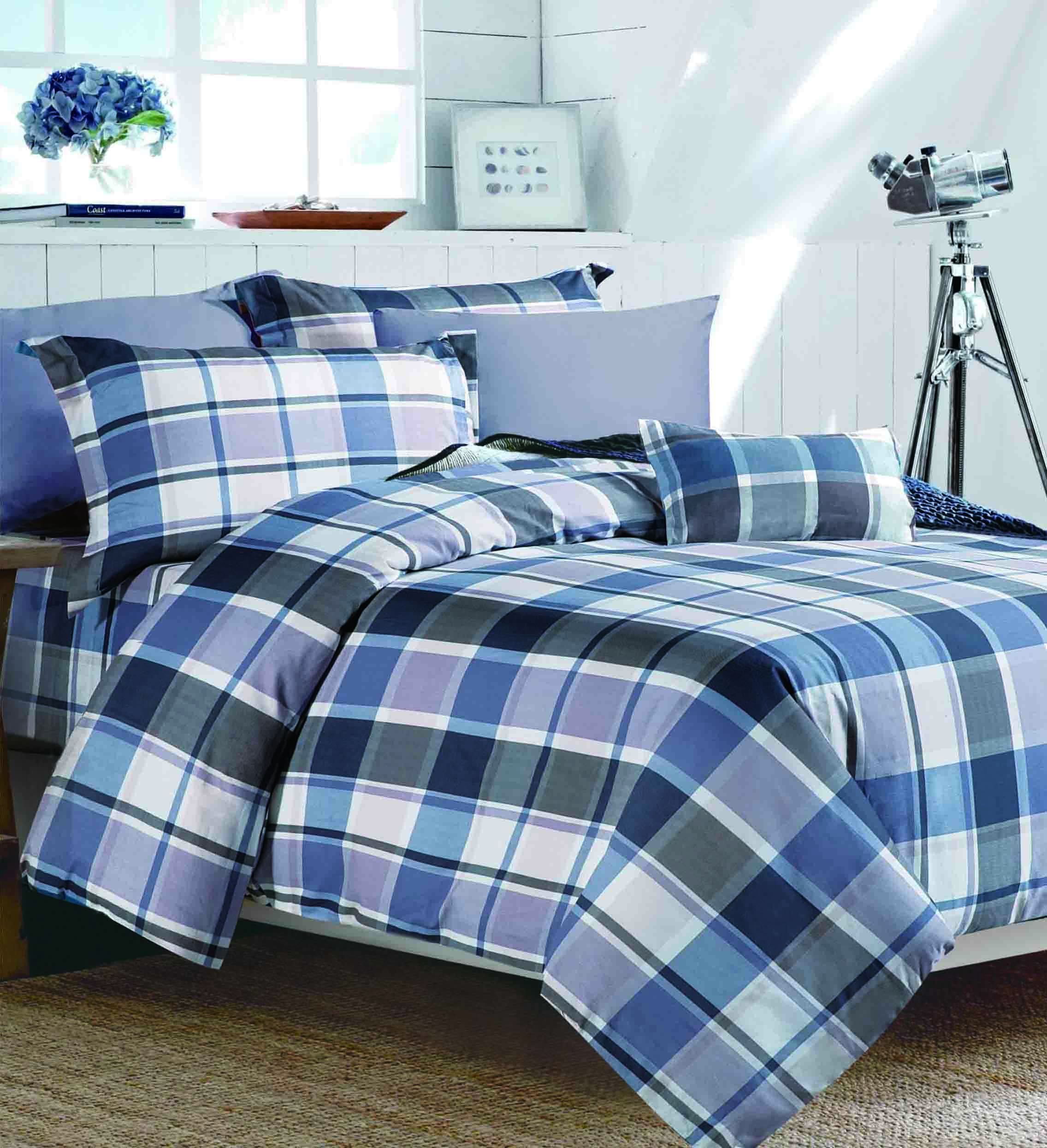 100% Cotton Plaid Pattern Bed linen   #161144