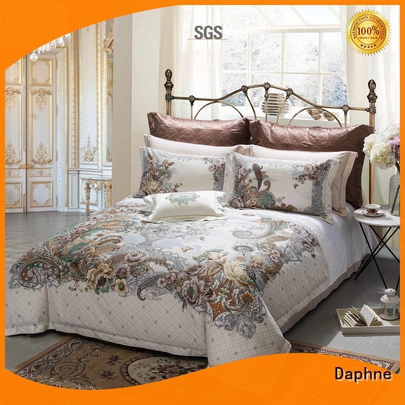 100 cotton bedding sets daphne brushed Cotton Bedding Sets printing company