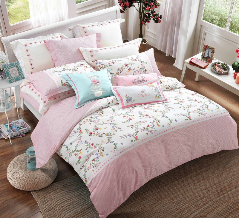 100% Cotton Adorable Printed Bed linen #6885