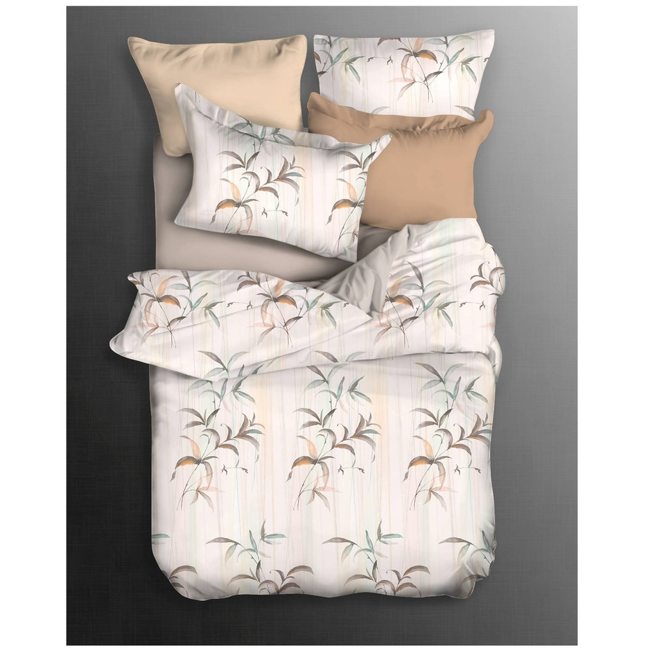 Cotton Modal Leaves Design Bedding Set Soft Hand-feel