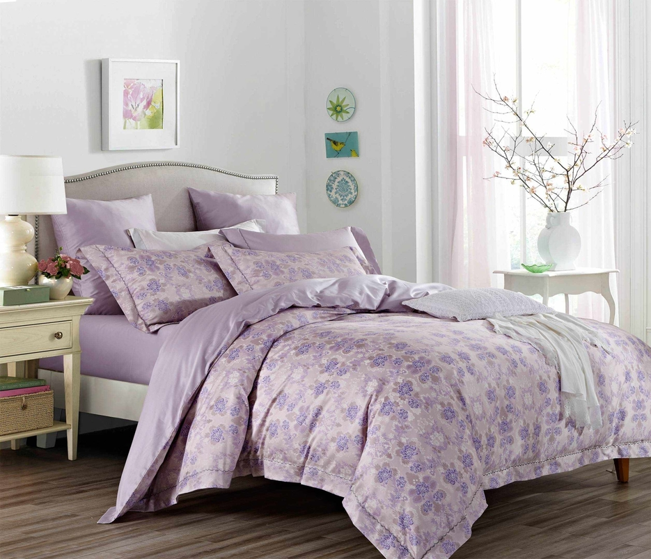 Lush Floral Pattern Bedding Set Cotton and Rayon 171095
