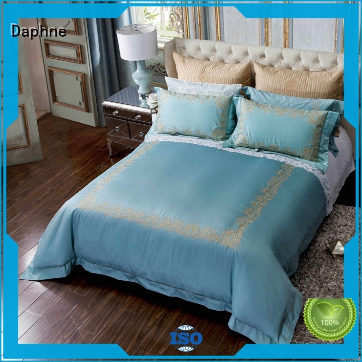 linen bedding sets damask solid hemstitch Solid Color Bedding manufacture