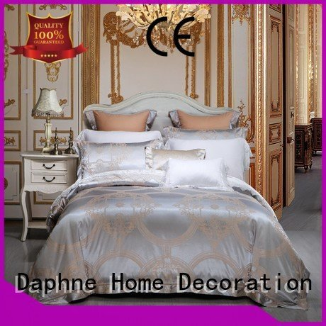 Daphne jacquard duvet cover king sheet bed attractive bedroom