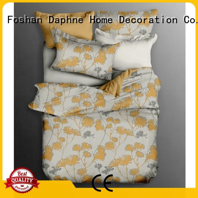 Daphne Brand quality bed Cotton Bedding Sets colored linen