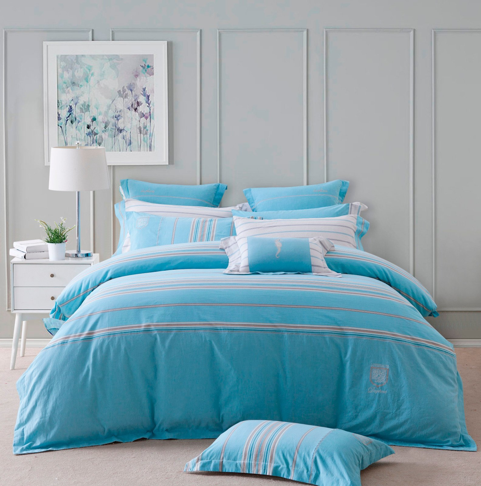 DAPHNE Cotton Elegant Print Bed Linen #6857
