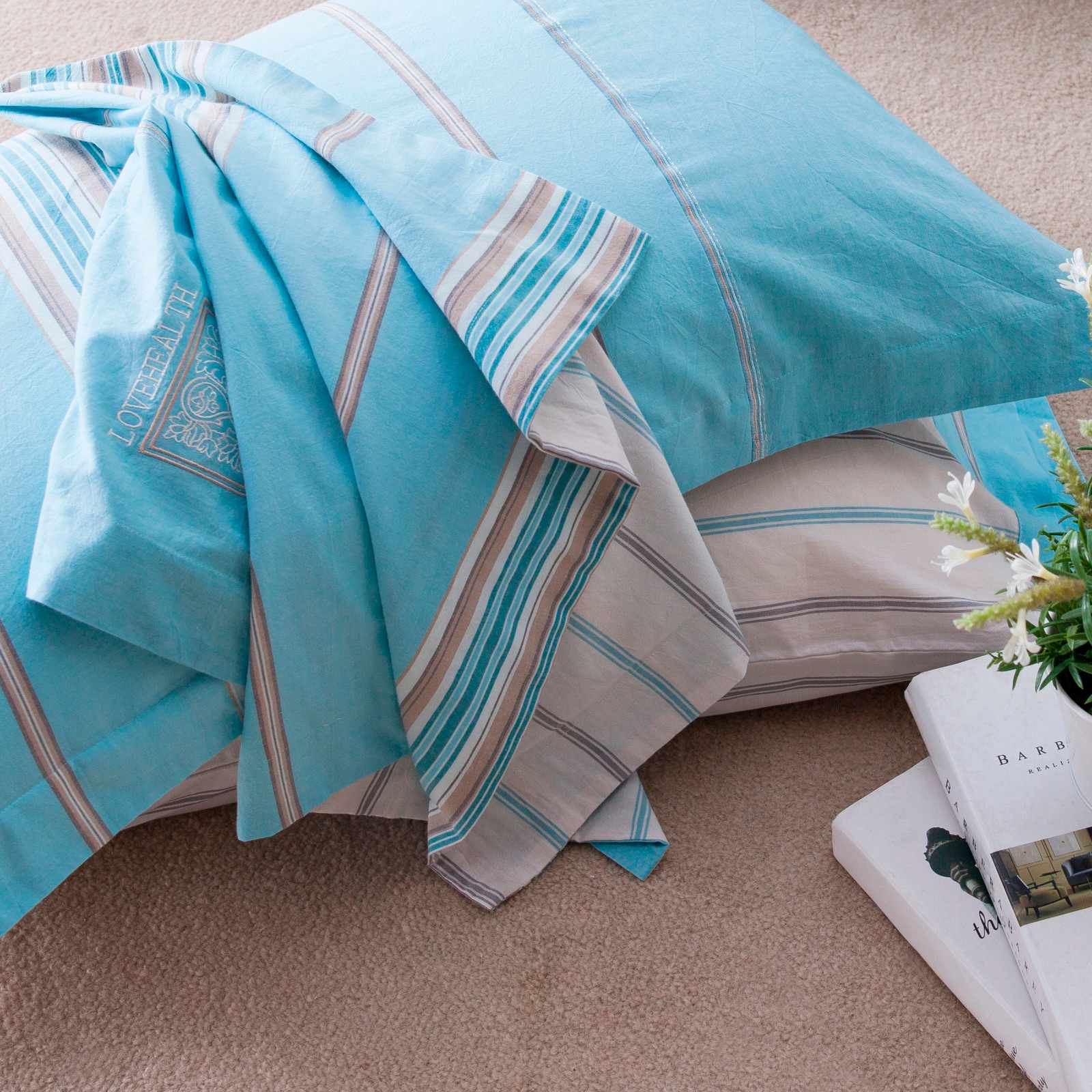 Daphne DAPHNE Cotton Elegant Print Bed Linen #6857 100% Cotton Printed image39
