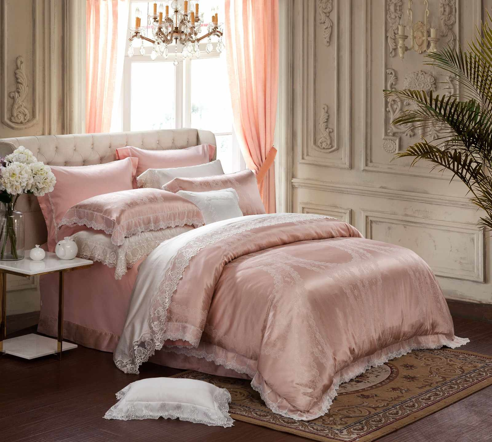 Daphne Brand linen designs Jacquard Bedding Set bedroom cotton