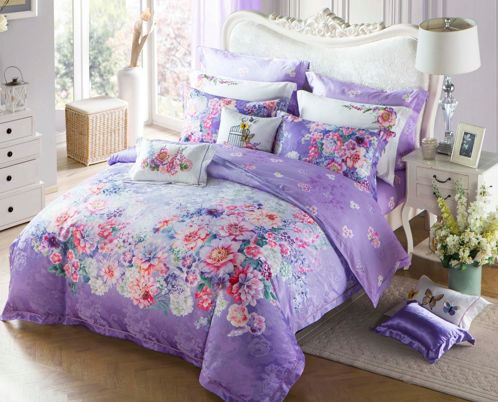 sheet jacquard duvet cover king and Daphne company