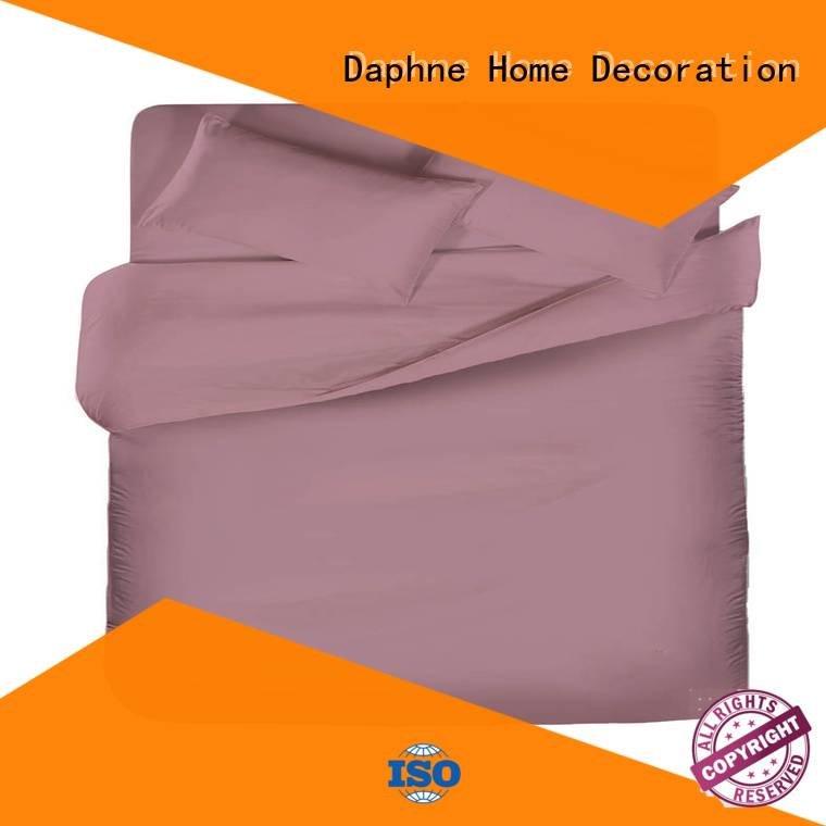 Hot linen bedding sets simple Solid Color Bedding egyptian Daphne