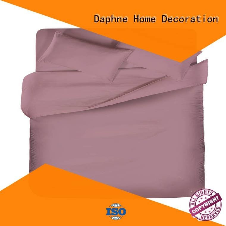 Hot linen bedding sets simple Solid Color Bedding egyptian Daphne